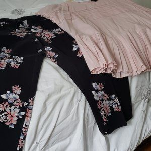 Full Outfit Capri Pant and Shortsleeve Blouse